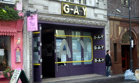 G-A-Y's bar in Old Compton Street, Soho, London.