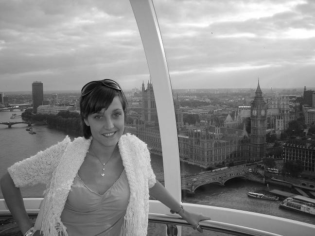Ainara in London eye